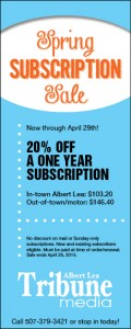Spring Subscription Sale for website