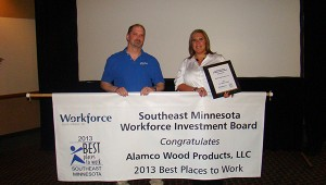Bart Belshan and Melissa Sexton from Alamco Wood Products, LLC.