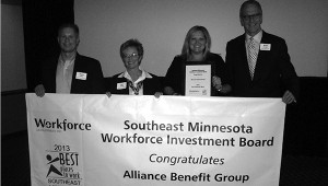 Steve Pulley, Jan Hoium, Kellie Jordahl and Brad Arends of Alliance Benefit Group -- Submitted