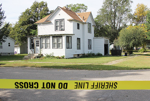The Iowa Division of Criminal Investigation and the Worth County Sheriff's Office are investigating the death of a man who reportedly beat and stabbed a woman at 208 Fourth St. N. Sunday night. — Sarah Stultz/Albert Lea Tribune