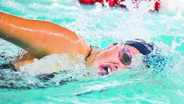 Albert Lea's Madi Dahl swims in the 200-yard freestyle Saturday during the Austin Invitational. — Eric Johnson/Albert Lea Tribune