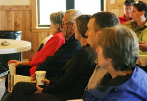 Members of the House Capital Investment Committee listen to a presentation by Shell Rock River Watershed District officials Wednesday requesting $7.5 million in state bonding funds to dredge Fountain Lake.