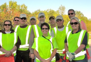 The Noon Kiwanis club did ditch clean up on Interstate 90 on Oct. 1.  --Submitted