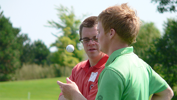 Kellen Kaasa, left, and his brother, Devin Kaasa, will participate in the National Invitational Golf tournament for Special Olympics Saturday and Sunday in New Jersey. — Submitted