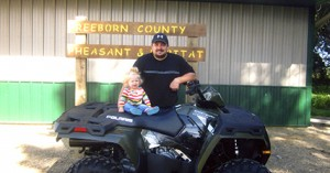 Jarvis Burgett of Emmons was the winner of a Polaris all terrain vehicle. The ATV was a raffle prize at the Freeborn County Pheasant & Habitat banquet on Sept. 21.  --Submitted