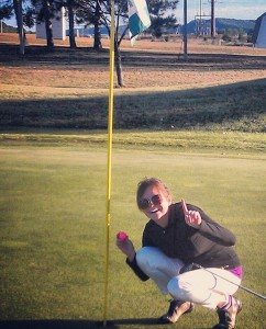 Kari Nelson, a former resident of Albert Lea, hit a hole-in-one Sept. 16 at Trempealeau Mountain Golf Course in Trempealeau, Wisc. She made the shot on hole No. 4 — a 131-yard par 3. Tony Sass was the witness. — Submitted