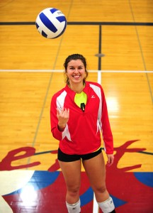 Annie Ladwig, a senior at Albert Lea, is leading the volleyball team with 293 kills this season. Albert Lea has a 15-9 overall record and is the No. 4 seed Section 1AAA tournament. The Tigers earned a first-round bye. — Micah Bader/Albert Lea Tribune
