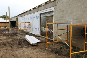 This nursery building had six garage doors and now has two. Three Oak Vineyards & Winery owners plan to turn grapes into wine in this building starting this winter. -- Tim Engstrom/Albert Lea Tribune