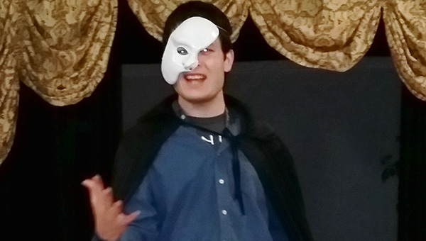 Submitted  Jordan Wylde, as the Phantom, rehearses for an upcoming show at the Lighthouse Event Center. -- submitted