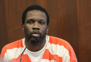 Tyrone Washington Jr. testifies Monday in Worth County District Court about why he should be granted a change of venue in his trial. -- Sarah Stultz/Albert Lea Tribune