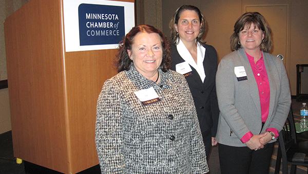 From left are Valerie Kvale, Laura Leraaen and Johanna Thomas.