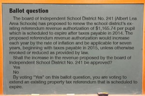 Levy ballot question posed to voters on Nov. 5.