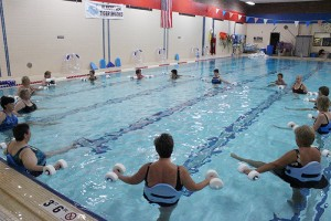 Fifteen women get a pool workout at the Albert Lea Family Y last week. -- Kelli Lageson/Albert Lea Tribune