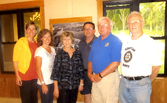 In June, the Rotary Club installed incoming officers. From left are Kelly Goskeson, vice president elect, Sheila Schulze, vice president, Lilah Aas, secretary, Garry Hart, president, Casey Swenson, president, and Bill Groskurth, past president. Not pictured is Shanna Eckberg, treasurer.