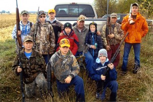 Bob Ball, the Southern Gateway Chapter president of the Minnesota Deer Hunter's Association poses with his students ages 8 to 16 after a five-hour event to teach firearm safety, marksmanship and animal-tracking skills. Students were treated to venison, hot dogs, chips and soda at the conclusion of the event. — Submitted