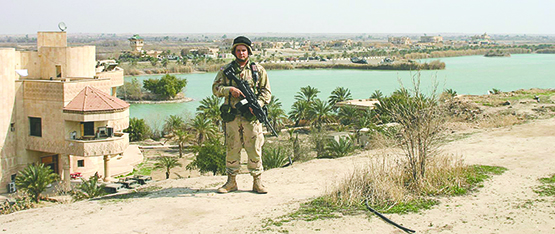Nathan Lee during his tour in Iraq. --Submitted