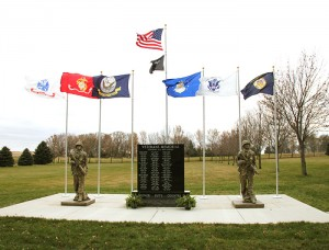 A new veterans memorial stands at the Bohemian Cemetery near Myrtle.