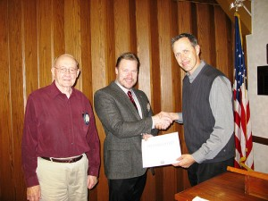 The Noon Kiwanis Club inducted new member, Kevin Seifken, center. Pictured with Seifken are his sponsor, Leo Osbeck, and current president, Tim Engstrom. --Submitted