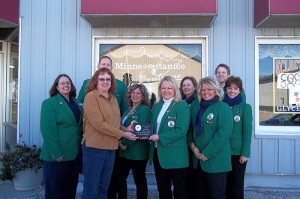 Albert Lea-Freeborn County Chamber Ambassadors welcome Soap Wizards/Minnesoyta Nice in Glenville to the chamber. --Submitted