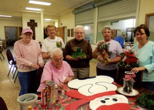 Volunteers prepare for Holidays Ahead, a bazaar at First Lutheran Church that will be from 8 a.m. to 1 p.m. Nov. 23. Crafters meet every Monday from September to November to prepare for Holidays Ahead. Pictured are Doris Gruff, Donna Ludtke, Neva Mathison, Bonnie Schneider and Dorothy Hanson. Seated is Mary Evanson. --Submitted