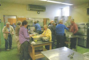 Volunteers make lefse at First Lutheran Church in late October.