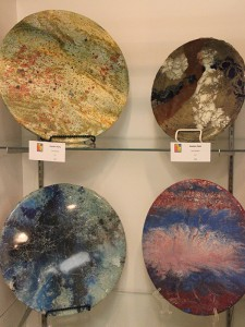 James Peterson creates what he calls functional art, like these pieces that can be used as a lazy susan on a table.