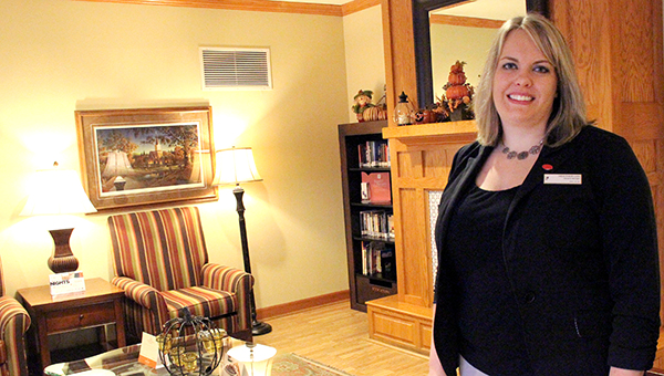 Heather Lee, general manager at Country Inn & Suites in Albert Lea, stands in the lobby last week at the hotel. Last month the business was awarded with the Medium Business of the Year by the Albert Lea-Freeborn County Chamber of Commerce. --Sarah Stultz/Albert Lea Tribune