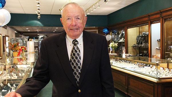 Arnold Stadheim of Albert Lea started Stadheim Jewelers 60 years ago downtown.  --Sarah Stultz/Albert Lea Tribune