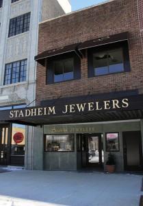 The exterior of Stadheim Jewelers, 215 S. Broadway, was renovated this summer. --Sarah Stultz/Albert Lea Tribune
