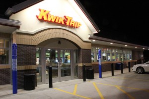 Lights on in the store and parking lot of the new Kwik Trip on Bridge Avenue alert customers this morning that the gas station is open.