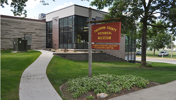Tour the new addition at the Freeborn County Historical Museum. Park near the fairgrounds entrance.-- Submitted