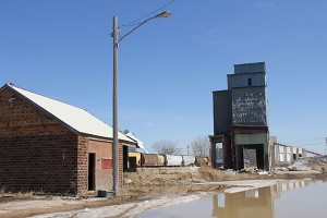 These two structures on the east side of Broadway in Wells are also slated to come down this week. – Sarah Stultz/Albert Lea Tribune