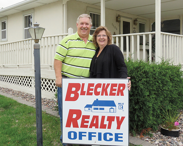 After more than 20 years in the business, Brian and Beckie Blecker are closing Blecker Realty and moving to Wisconsin.  – Provided