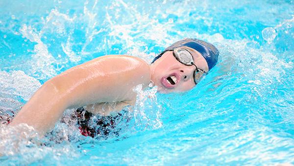 Sara Rasmussen of Albert Lea swims the 200-yard freestyle Tuesday against Northfield. — Micah Bader/Albert Lea Tribune