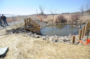 Installing electric fish barriers is one of several projects the Shell Rock River Watershed District has done upstream to help the quality of water coming into Fountain Lake. The Mud Lake fish barrier was the first. — Brie Cohen/Albert Lea Tribune
