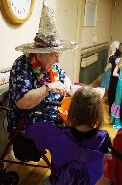 Children could get candy from St. Johns Lutheran Community on Halloween. — Provided