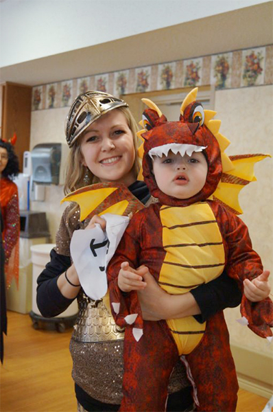 Children and residents alike dressed up for Halloween at St. John's Lutheran Community. — Provided