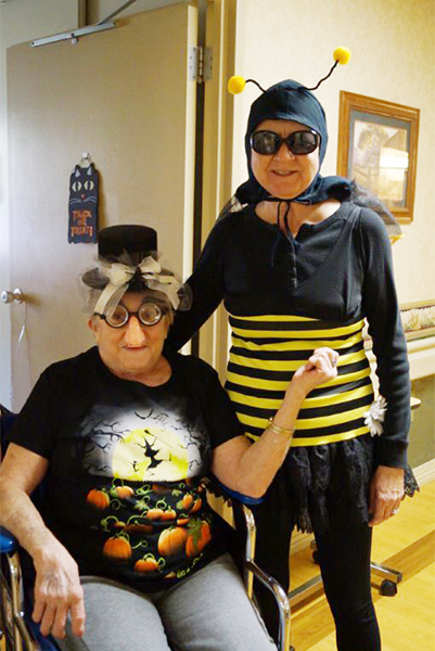 Residents at St. John's Lutheran Community dressed up for Halloween on Friday. — Provided