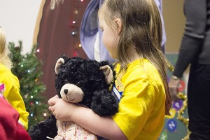 Starkey Hearing Technologies donated Build-A-Bears to Young Athletes, who in turn donated 200 of those bears to United Preschool. – Hannah Dillon/Albert Lea Tribune