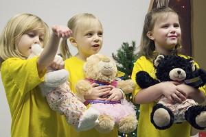 The Build-A-Bears came pre-dressed and in many styles, such as dresses, pajamas and superheroes. – Hannah Dillon/Albert Lea Tribune