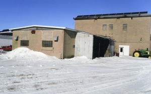 A second building that was part of the former prisoner of war camp in Wells remains standing. It is believed to have housed offices. — Jerome Meyer/for the Albert Lea Tribune