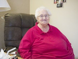 Donna Ball has been in a wheelchair for about a month, and was using a walker for nine years prior to that. - Colleen Harrison