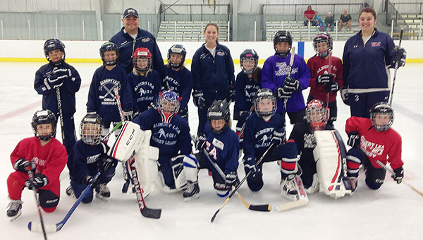 Albert Lea City Arena hosted the Girls Only!!! Summer Hockey School from July 13 to 17. Fifty skaters from the U8, U10, U12, JV and varsity age groups participated. Campers were instructed by Albert Lea girls' hockey head coach Jason Fornwald and assistant coaches. Jason Fornwald said he looks forward to participating in the hockey school next year as well. Front row from left are the skaters from the U8 and U10 age group: Danica Czerka, Camille Fornwald, Sydney Fornwald, Maggie Olson, Jordan Habana, Vayda Gordon and Morgan Goskeson. Middle row from left are instructor Dirk Fornwald, Ariyah Hanson, Keira Erickson, Olivia Ellsworth, instructor Maddy Funk, Taylor Larson, Cooper Klahhsen, Rachel Doppelhammer and instructor Jacqui Jepson. Jason Fornwald is in the back row. — Provided