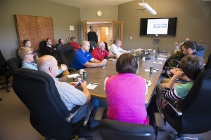 Members of the Minnesota House Agriculture Finance Committee and the Minnesota House Agriculture Policy Committee watched a presentation and toured the REG biodiesel refinery near Albert Lea on Tuesday. - Colleen Harrison/Albert Lea Tribune