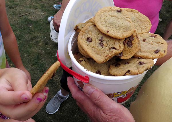 A bucket of Sweet Martha's cookies. - Tim Nelson/MPR News