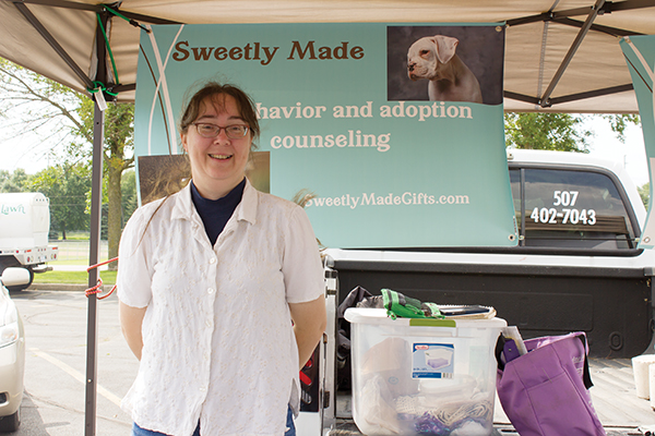 Albert Lea resident Patti Floyd makes pet products and more to sell at the Albert Lea Farmers Market.