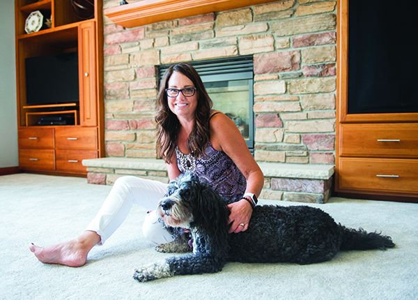 Linda Laurie and her family adopted Emmie about 11 years ago from the Humane Society of Freeborn County. They also have an 8-year-old standard poodle named Sophie. - Colleen Harrison/Albert Lea Tribune