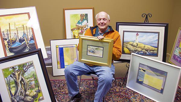 """Austin artist James Wegner will be a featured artist at Friday's """"Art and Dixieland"""" fundraiser at Wedgewood Cove. The fundraiser benefits the Albert Lea Art Center. -Cathy Hay/Albert Lea Tribune"""