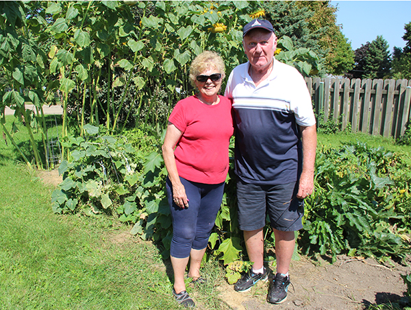 Patty and Doug Christopherson headed up the garden at United Methodist Church this summer. The food grown has been donated to the Ecumenical Food Pantry at First Presbyterian Church. - Sarah Stultz/Albert Lea Tribune
