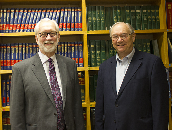 Attorneys Phil Kohl, left, and Mark Anderson, along with John Hareid, not pictured, will retire at the end of October. When they do, the law firm they are partners in will close. - Sam Wilmes/Albert Lea Tribune